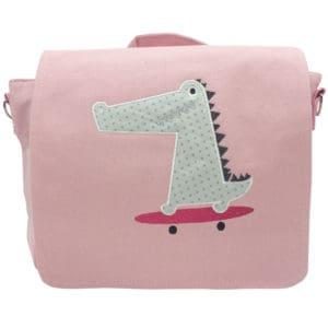 Die Gräfin Kindergartenrucksack in Rosa mit Motiv 'Krokodil'