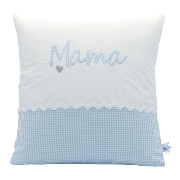 Geschenkidee: Die Gräfin Kissen für Mama, Blau-Weiß