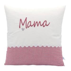 Geschenkidee: Die Gräfin Kissen für Mama, Rot-Weiß